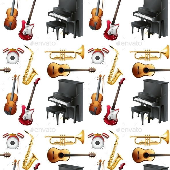 GraphicRiver Seamless Musical Instruments 10884646
