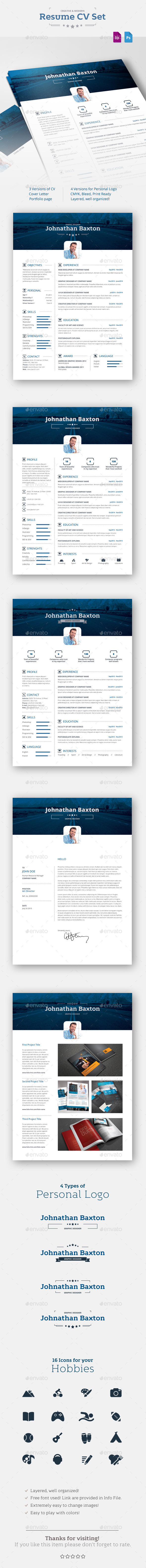 GraphicRiver Resume CV 10884707