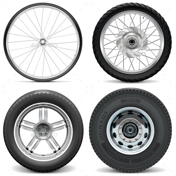 GraphicRiver Tires for Bicycle and Vehicles 10885260