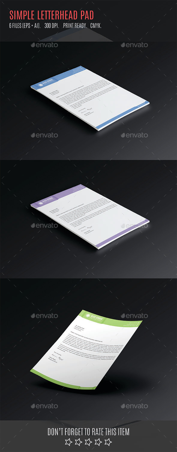 GraphicRiver Simple Letterhead Pad 10885375