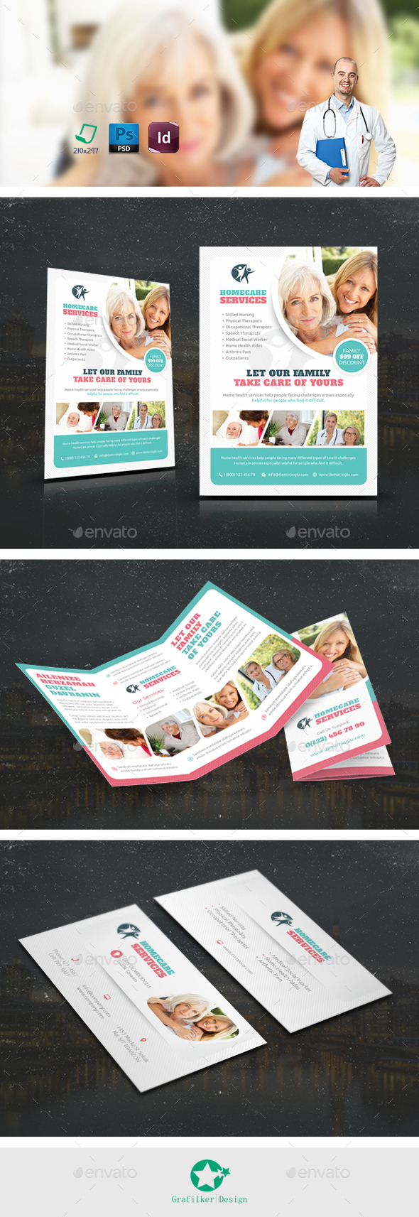 GraphicRiver Home Care Bundle Templates 10885385