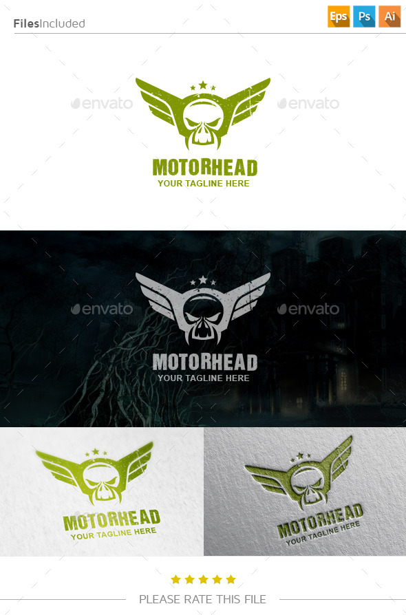 GraphicRiver Wings Skull Logo 10855977