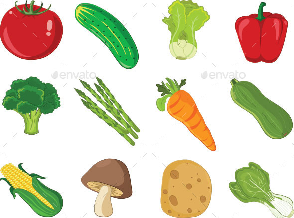 GraphicRiver Set of Vegetable Icons 10777406