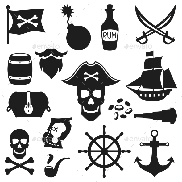 GraphicRiver Set of Pirate Elements 10886720