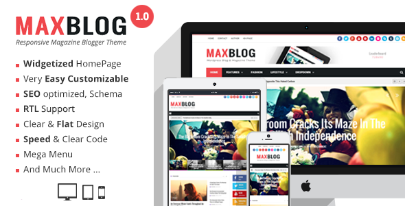 ThemeForest MaxBlog Responsive Magazine Blogger Theme 10887035
