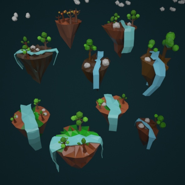 Low Poly Islands - 3DOcean Item for Sale