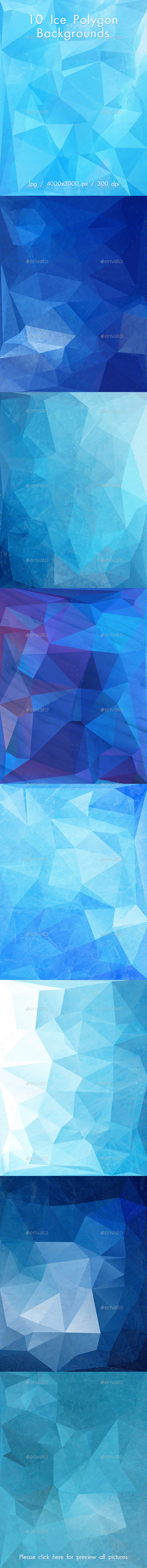 GraphicRiver Ice Polygon Backgrounds 10887215
