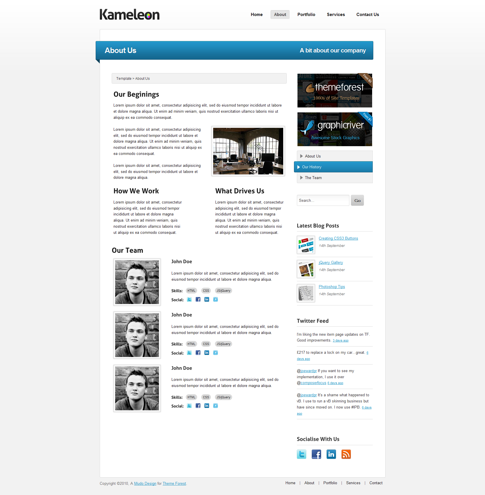 Kameleon - Premium Business & Product Template