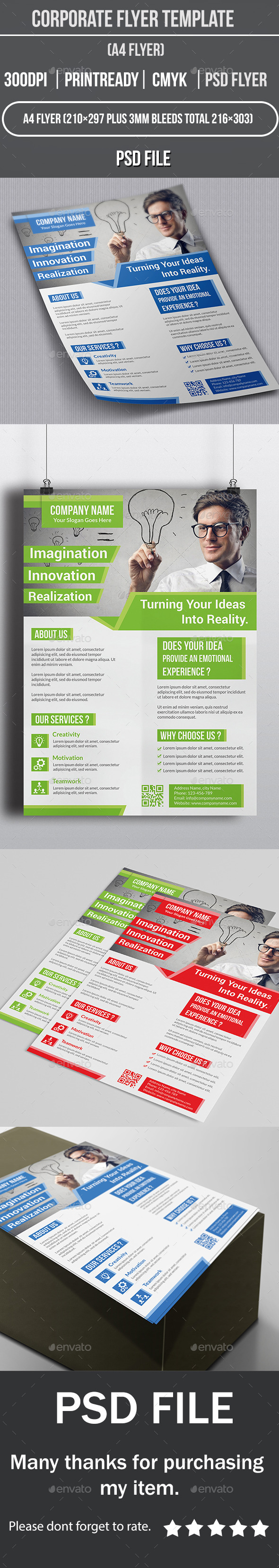 GraphicRiver Corporate Flyer Template 10887383