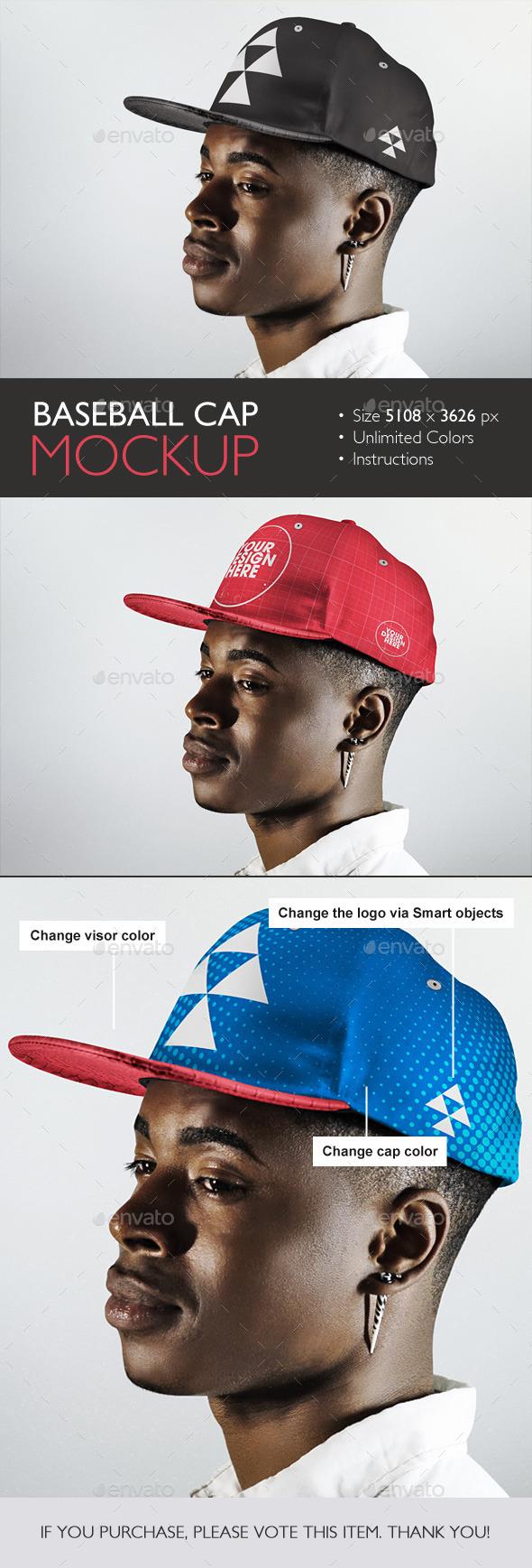GraphicRiver Baseball Cap Mockup 10813927