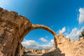 Saranta Kolones, a ruined medieval fortress. Paphos district, Cyprus - PhotoDune Item for Sale