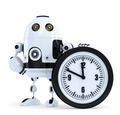 Robot with clock. Technology concept. Isolated. Contains clipping path - PhotoDune Item for Sale