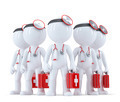 Group of doctors. 3d illustration. Isolated. Contains clipping path - PhotoDune Item for Sale