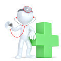 3d Doctor with a stethoscope in hands. Isolated. Contains clipping path - PhotoDune Item for Sale