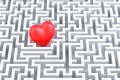 Red heart in the middle of the maze - PhotoDune Item for Sale