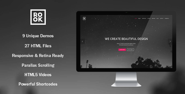 ThemeForest ROOK Onepage Multipurpose Retina Template 10889000