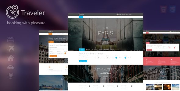 ThemeForest Traveler Travel Tour Booking WordPress Theme 10822683