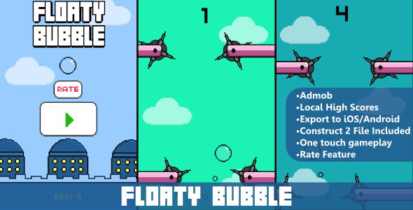 CodeCanyon Floaty Bubble HTML5 Mobile Game 10617313