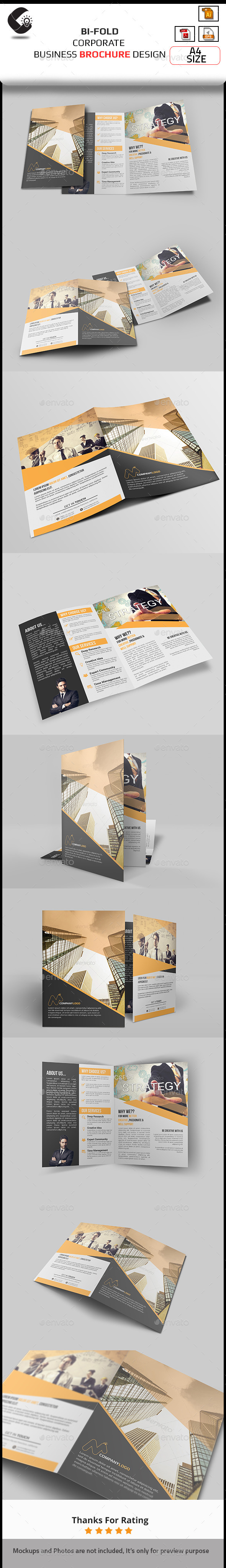 GraphicRiver Corporate Bifold Brochure 10889407