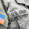 USA flag and U.S. Army patch on solder's uniform - PhotoDune Item for Sale