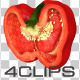 Red Bell Pepper, Halved - VideoHive Item for Sale