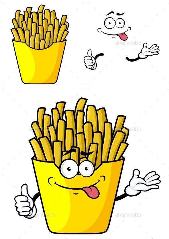 GraphicRiver Cartoon French Fries 10889647