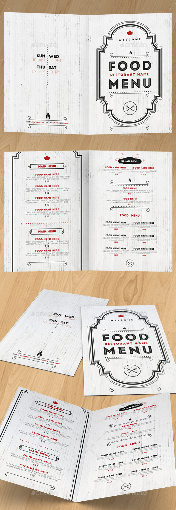 GraphicRiver Elegant Food Menu II 10889848