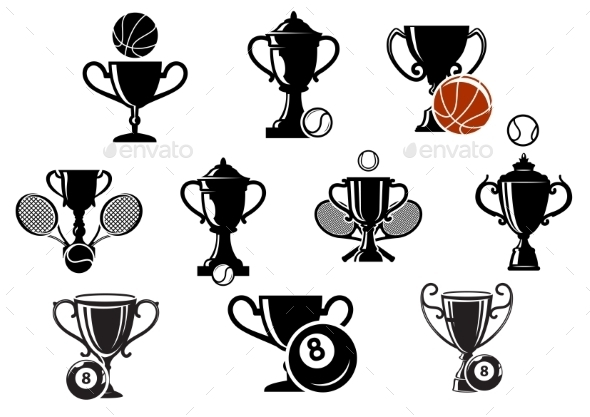 GraphicRiver Sporting Trophy Icons Set 10889859