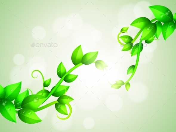 GraphicRiver Green Branches Background 10889956