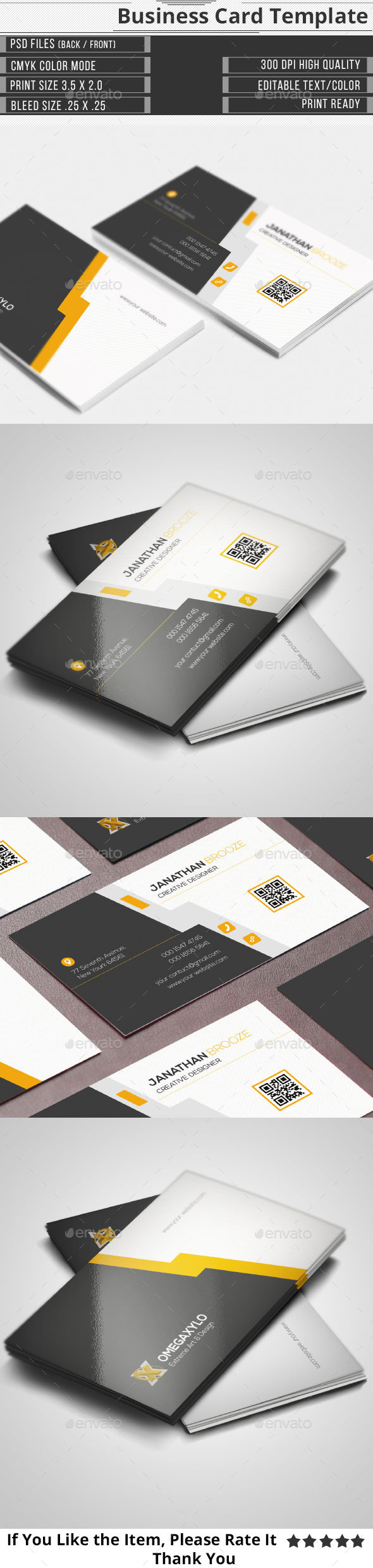 GraphicRiver Corporate Business Card 10889957