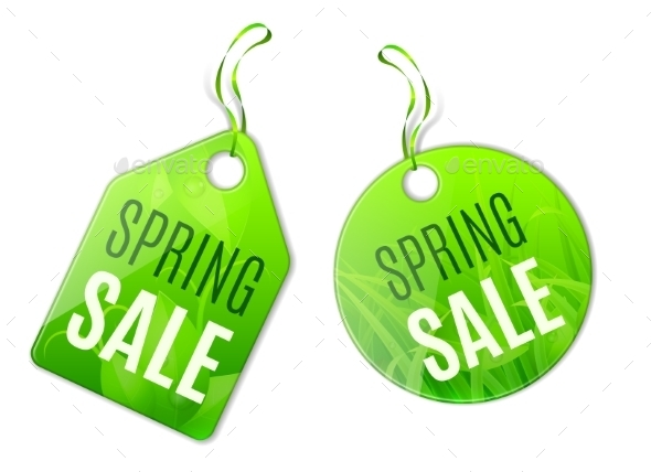 GraphicRiver Spring Sale Tags 10889962