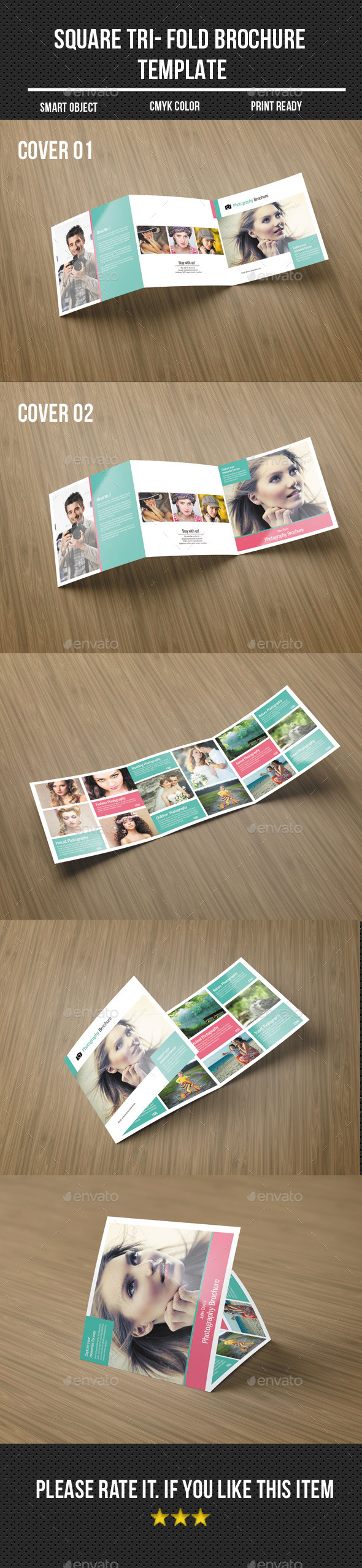 GraphicRiver Square Tri-Fold Photography Brochure 10890087