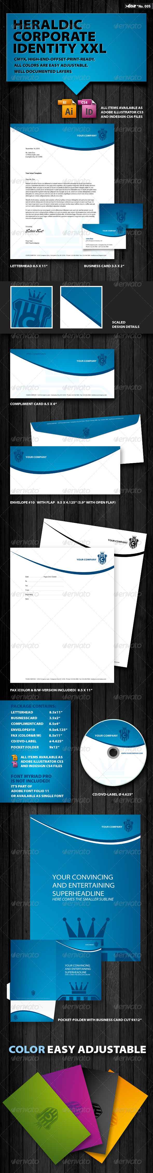 Heraldic Corporate Identity XXL - Stationery Print Templates