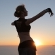 Graceful Girl Dancing Oriental Dance At Sunset - VideoHive Item for Sale