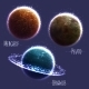 Set with Three Solar System Planets