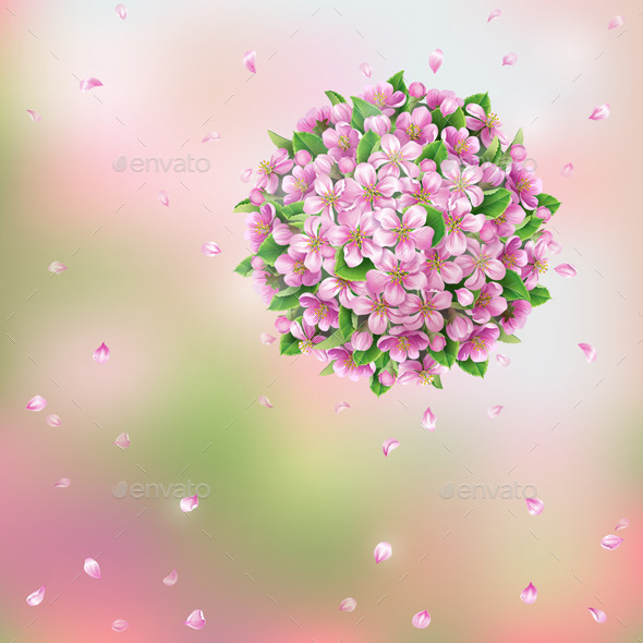 GraphicRiver Blooming Ball and Flying Petals 10891516