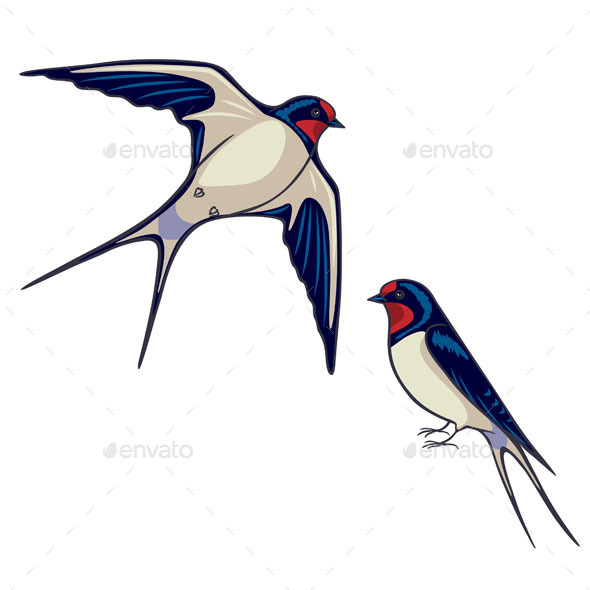 GraphicRiver Two Swallows 10891608