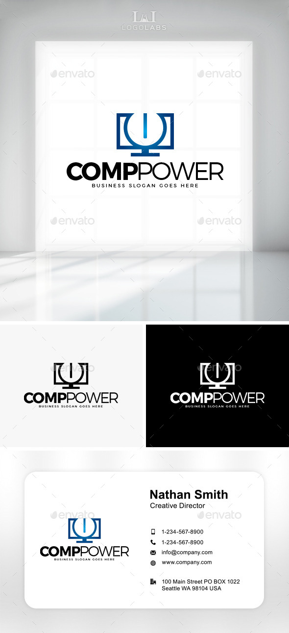 GraphicRiver Comp Power Logo 10891872
