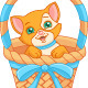 Cat in a Basket  - GraphicRiver Item for Sale