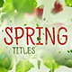 Spring Titles - VideoHive Item for Sale