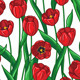 Red Tulips Pattern - GraphicRiver Item for Sale