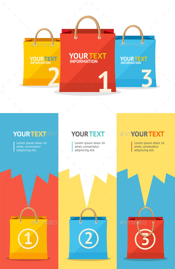 GraphicRiver Sale Paper Bags 10892165