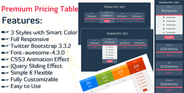 CodeCanyon Premium Pricing Table 10771408