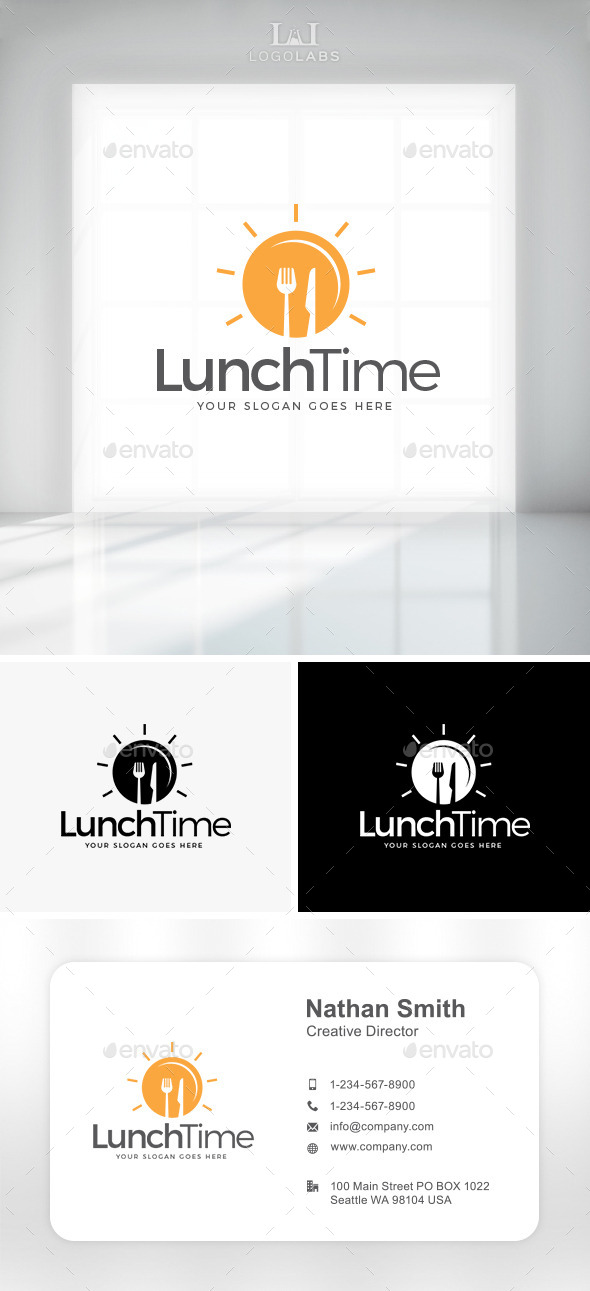 GraphicRiver Lunch Time Logo 10892188
