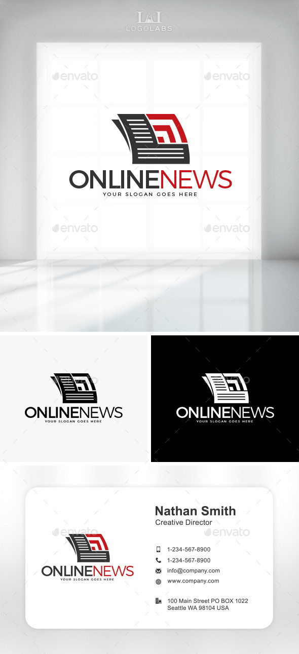 GraphicRiver Online News Logo 10892295