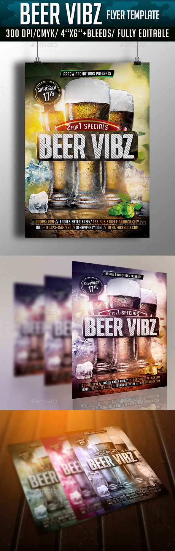 GraphicRiver Beer Vibes Flyer Template 10815725