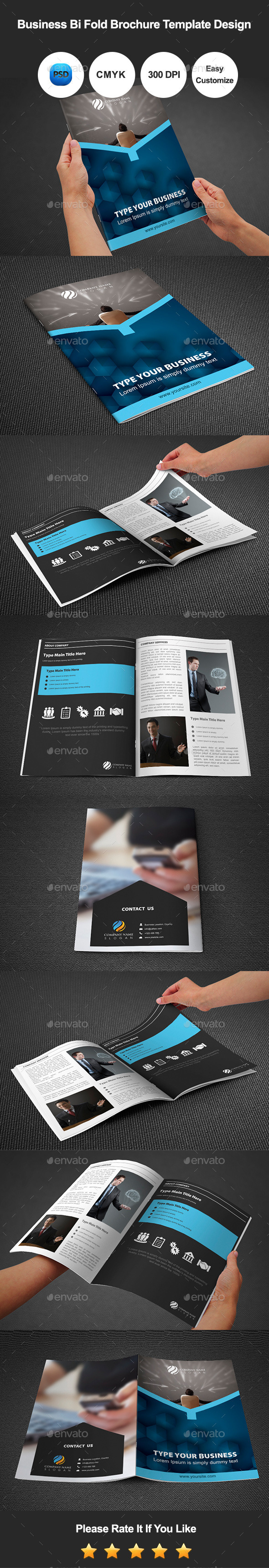 GraphicRiver Business Bi Fold Brochure Template Design 10892459