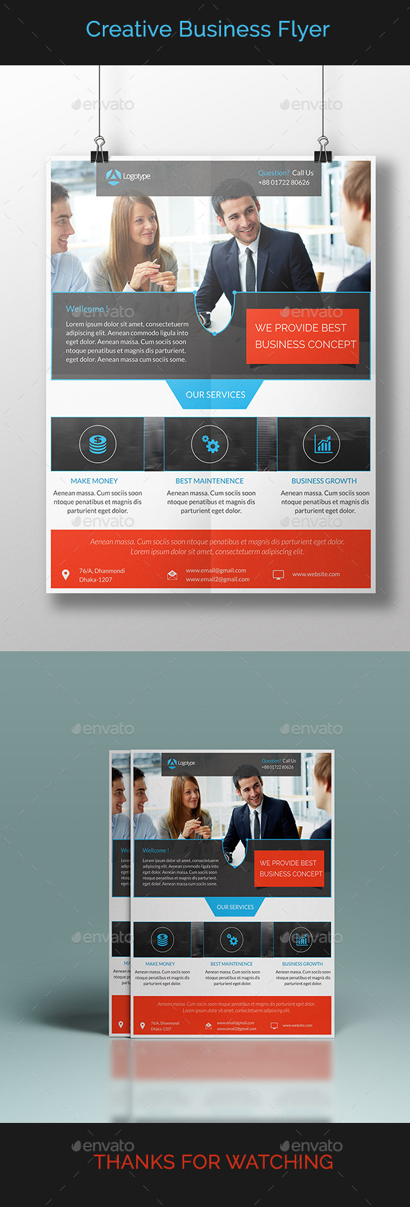 GraphicRiver Creative Business Flyer 10892511