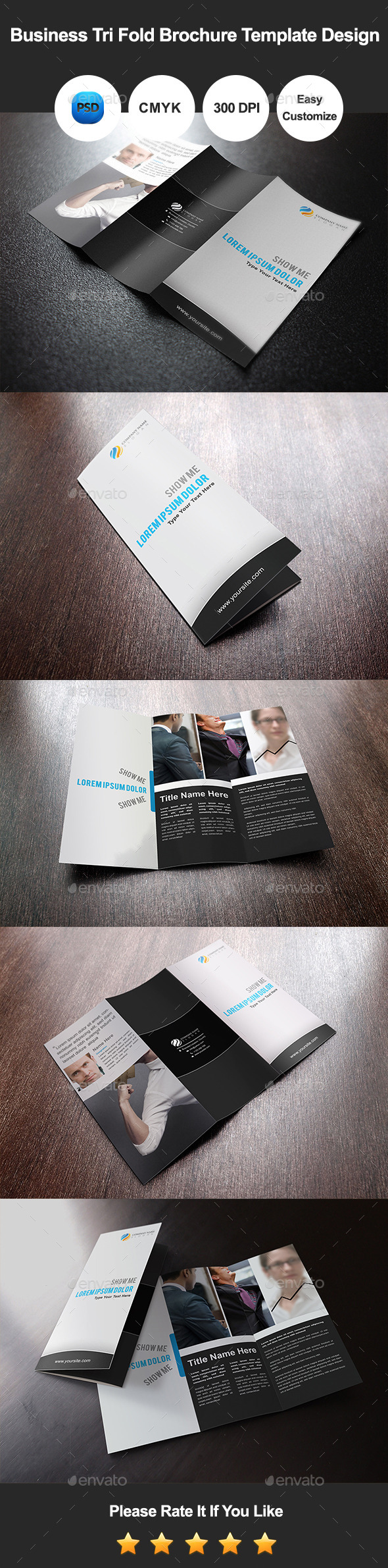 GraphicRiver Business Tri Fold Brochure Template Design 10892514