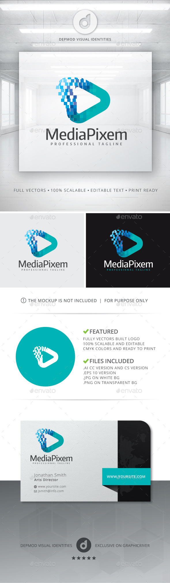 GraphicRiver Media Pixem Logo 10892538